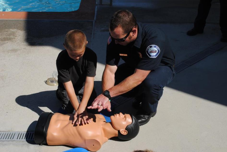 Learning CPR - Fire